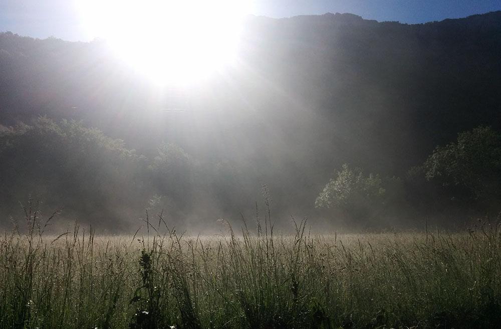 Izlazak sunca na Tjentištu