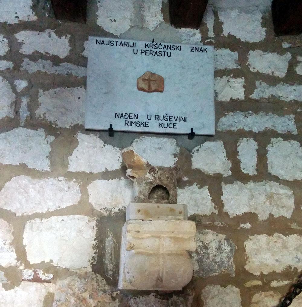 Najstariji kršćanski znak nađen u Perastu