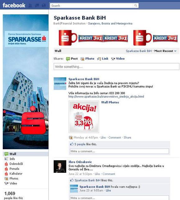 Pregled – kako banke u BiH koriste Facebook