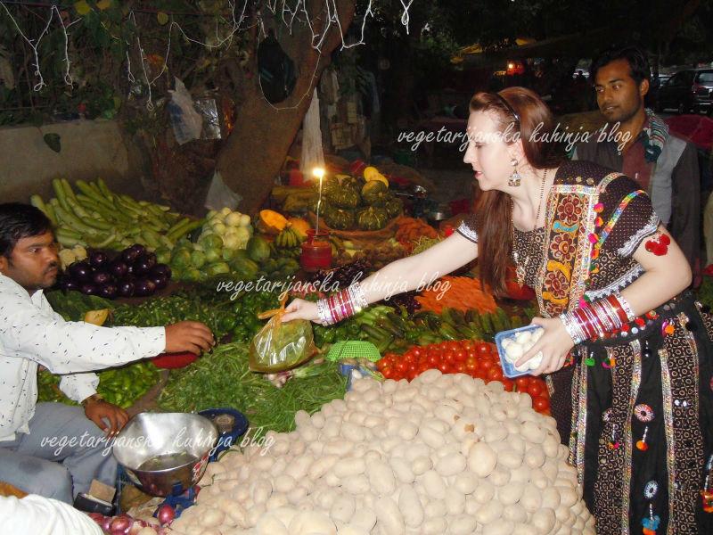 indija vegetarijanska kuhinja povrce trznica