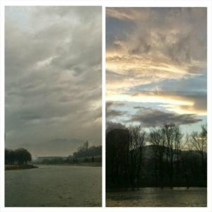 Pogled sa istog mjesta na 2 različite strane