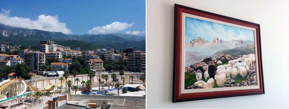 Pogled iz sobe i pogled iznad kreveta - hotel Mediteran